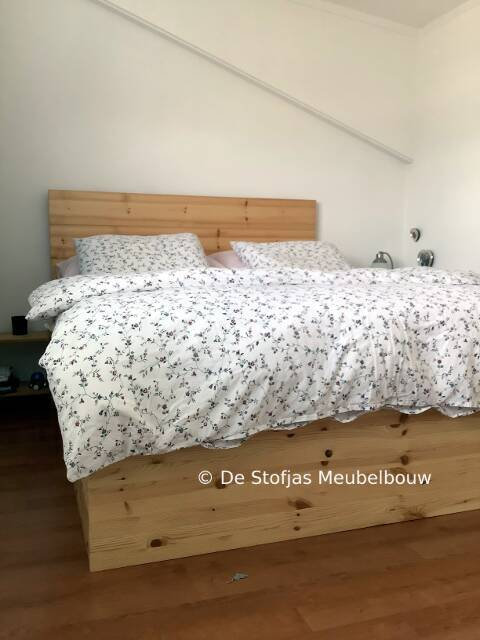 boxspring ombouw uit grenen hout